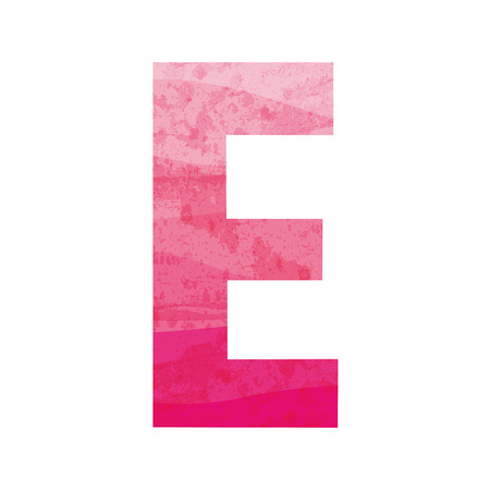 Pink alphabet E Illustration