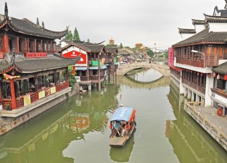 zhouzhuang: QiBao old town, Shanghai, China Editorial