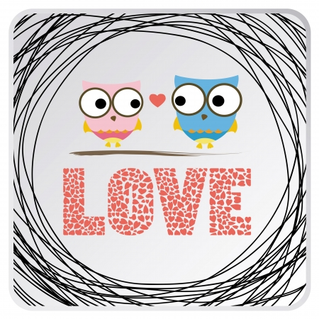 Two birds in love  Card for everyone