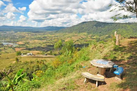Landscape view at Khao Kho, Phetchabun of Thailand  photo