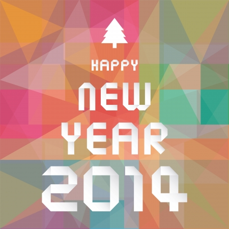 Happy new year 2014 card27 Stock Vector - 24599400