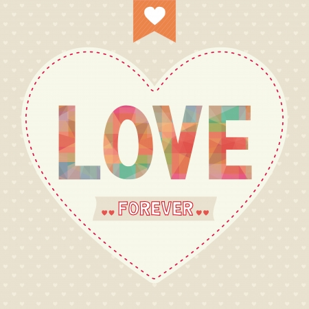 Love letter  Card for valentine day  Vector