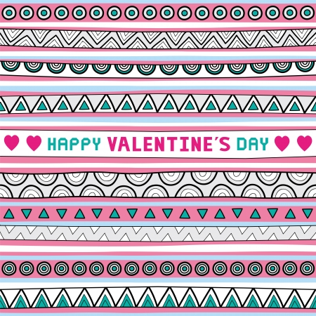 Seamless background for valentine day  Vector