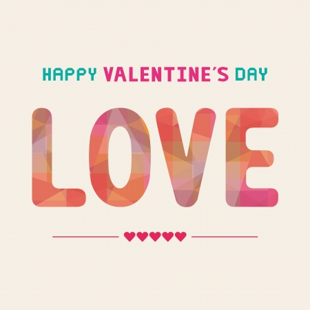 Love card for valentine s day
