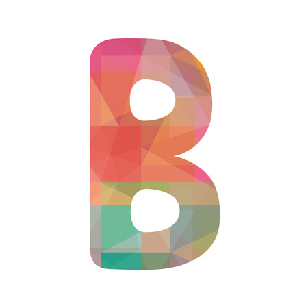 Colorful alphabet B for design and decoration