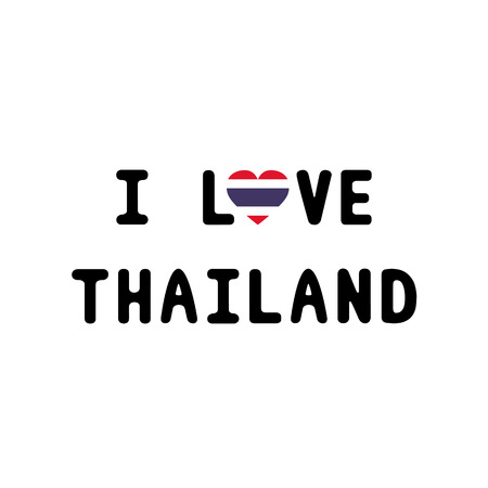 I love Thailand letter for design and decoration  Vector