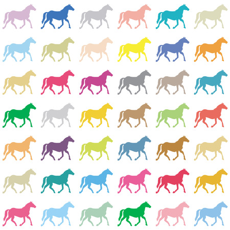 Horses on a white background  Vector