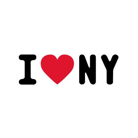 ny: I love NY letter for design and decoration