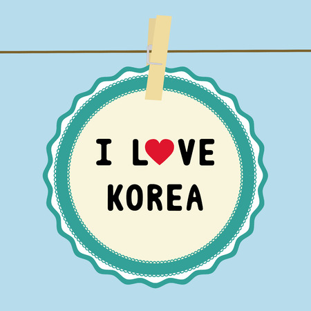 I LOVE KOREA letter  Card for decoration