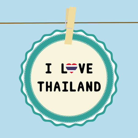 I LOVE THAILAND letter  Card for decoration  Vector