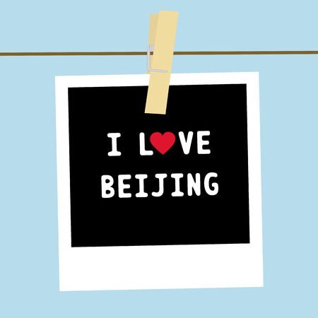 I LOVE BEIJING letter  Card for decoration