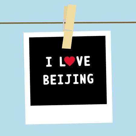 I LOVE BEIJING letter  Card for decoration 版權商用圖片 - 27151259