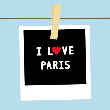 i love paris: I LOVE PARIS letter  Card for decoration