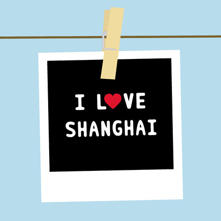 I LOVE SHANGHAI letter  Card for decoration