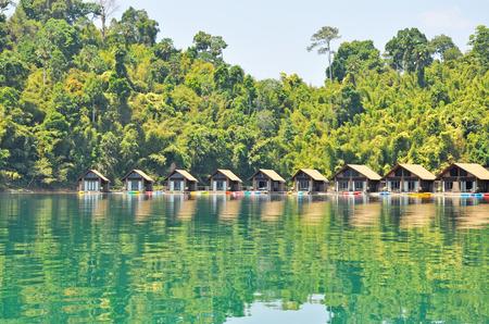 The resort at Ratchaprapha Dam, Khao Sok National Park, Surat Thani Province, Thailand