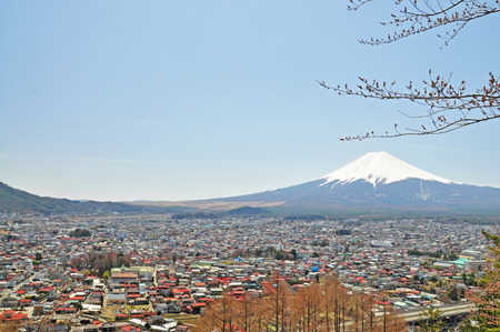 View of Mount Fuji from Kawaguchiko of Japan  photo