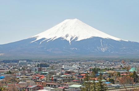 View of Mount Fuji from Kawaguchiko of Japan  photo