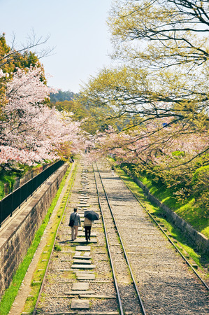 incline: Keage incline, Kyoto in Japan  Stock Photo