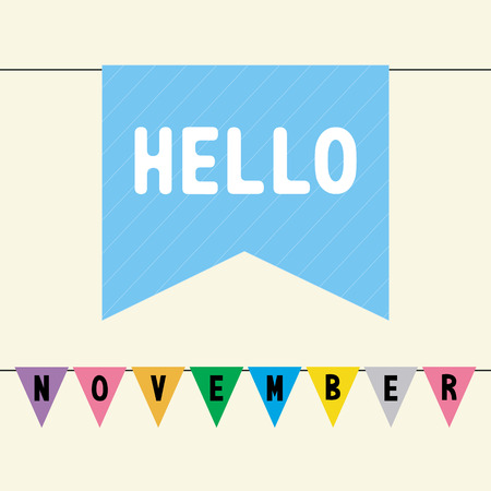Hello November card for greeting