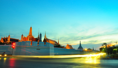 Wat Phra Kaew in the evening with long exposure