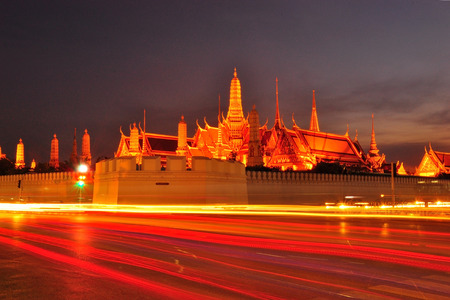 Wat Phra Kaew in the night photo