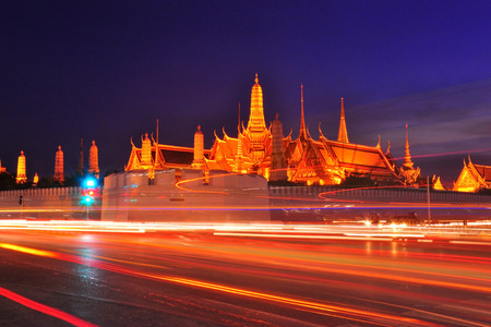 emerald city: Wat Phra Kaew in the night with long exposure