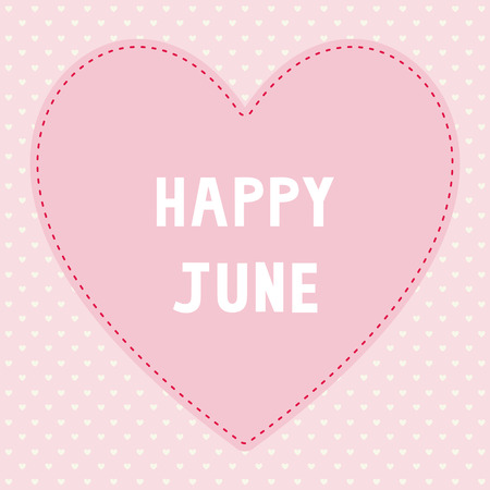 Happy June card for greeting