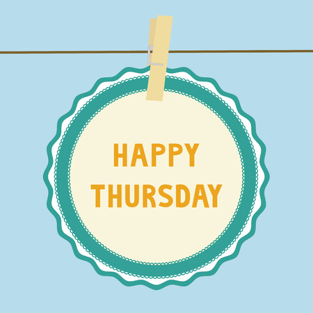 thursday: Happy Thursday letters on paper card