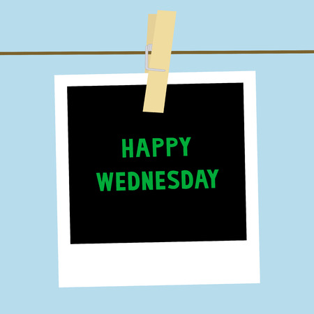 Happy Wednesday letters on the card