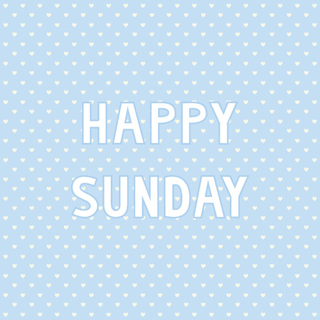 Happy Sunday card for decoration