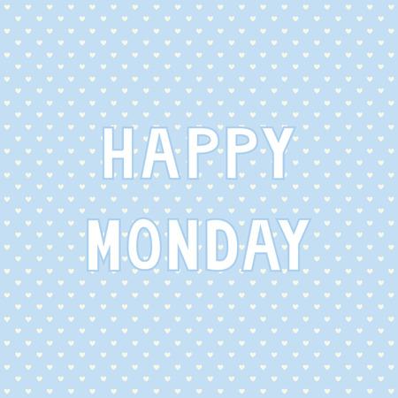 Happy Monday card for decoration  Illustration