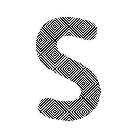 alphabet s: Alfabeto patr�n Square S para la decoraci�n
