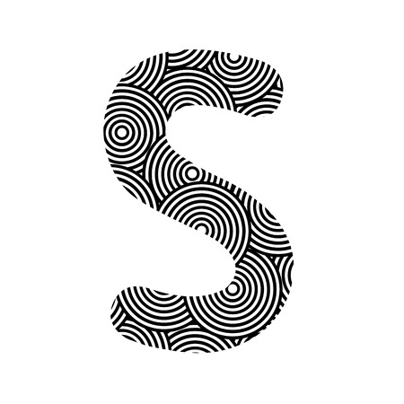 alphabet s: Modelo del c�rculo alfabeto S para la decoraci�n Vectores