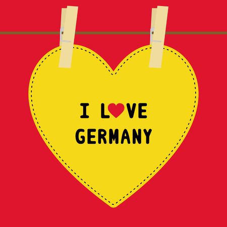 I lOVE GERMANY letter  Card for decoration  Vector