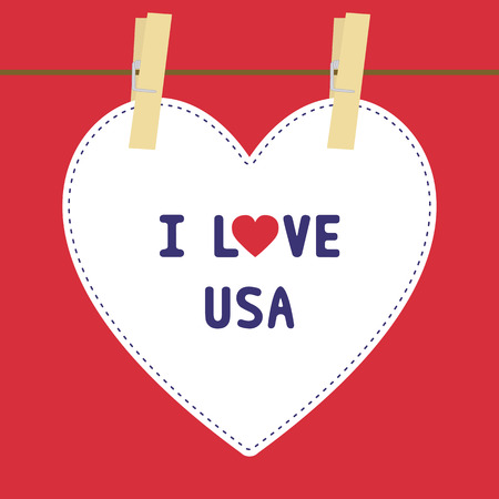 I lOVE USA letter  Card for decoration