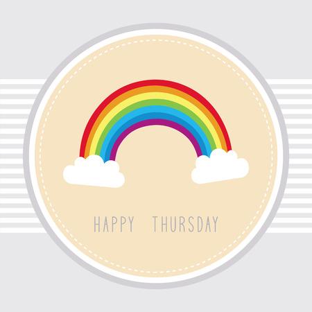 thursday: Thursday card with the rainbow
