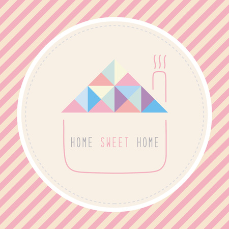 home sweet home: Home sweet home  Card for decoration  Illustration