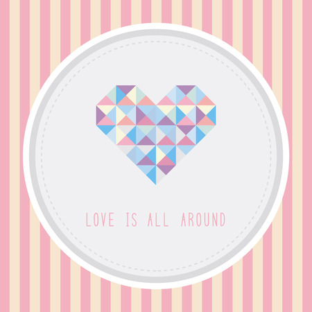 Love is all around  Card for decoration
