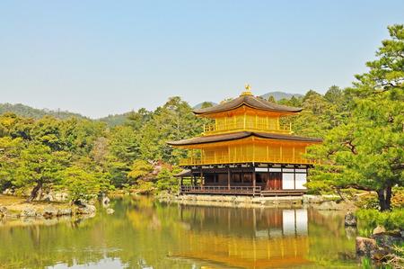 Golden Pavilion at Kinkakuji Temple in Kyoto, Japan