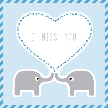 i miss you: Elephant couple say I miss you