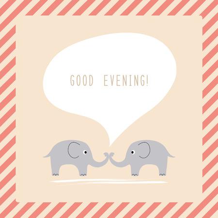 bonsoir: Quelques Elephant dire bonne soir�e Illustration
