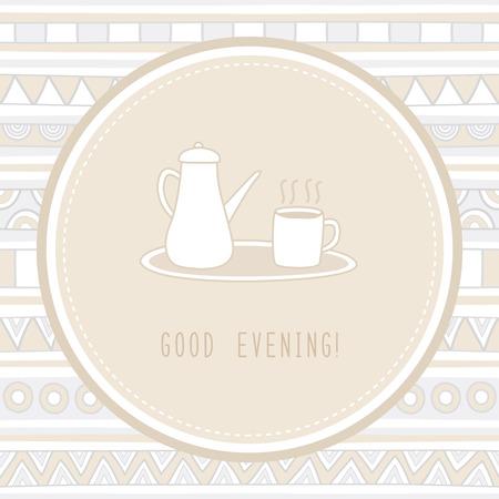 bonsoir: Bonne soir�e avec du th� chaud