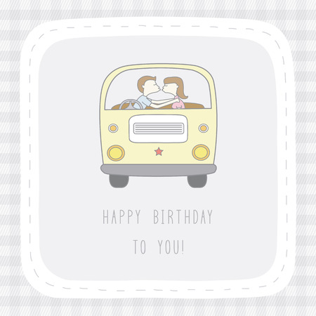 Happy birthday to you  Card for decoration  Vector