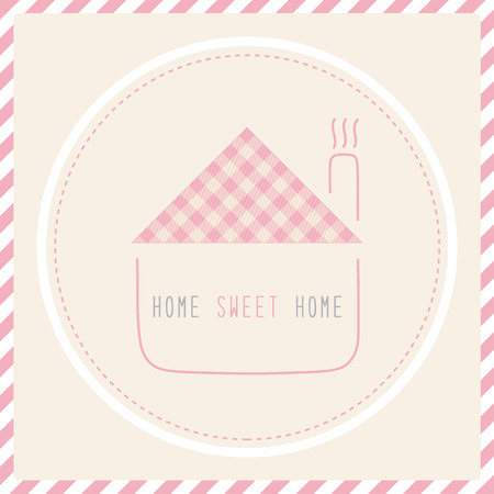 Home sweet home  Card for decoration  Vector