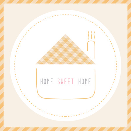 Home sweet home  Card for decoration  Illustration