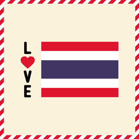Love Thailand letter for design and decoration