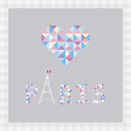 Love Paris card for decoration  Vector