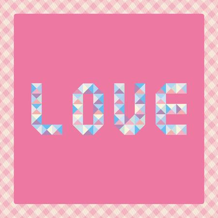 Pastel love letters for decoration  Illustration