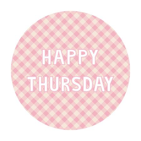 Happy Thursday card for decoration  Illustration