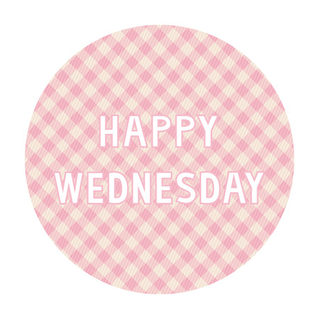 wednesday: Happy Wednesday card for decoration